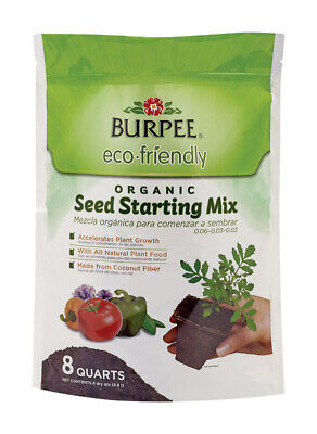 Burpee 7492739 8 qt Eco Friendly Organic Seed Starting Mix
