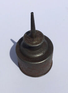 Antique miniature oil can, 48mm dia. 85mm tall Belleville Belleville Area image 3