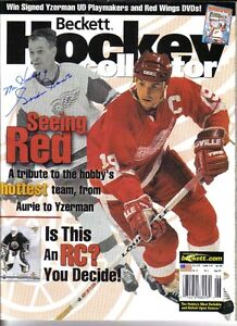 Mr. Hockey autographed the Cover of Beckett Hochey
