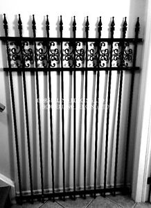 WROUGHT IRON FENCE PANEL'S / GATE'S AND POST'S
