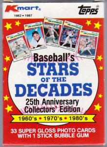 1987 K-Mart Stars of The Decade Baseball Card Set