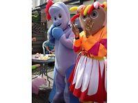2 mascots - Uspy Daisy & Iggle Piggle (great condition)