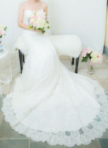 Allure Mermaid low back v-neck lace Wedding Dress