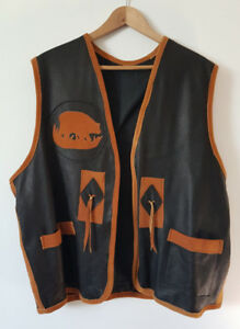 Moose hide Leather Vest- (Colors-black and brown)
