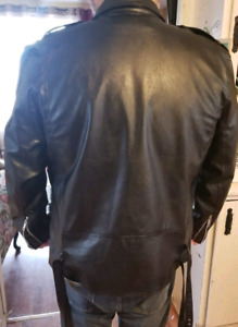 2 x FAUX  Leather Jackets - Size Large