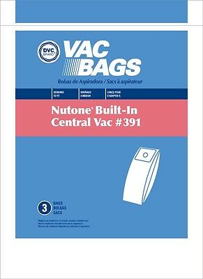 DVC Replacement HEPA Synthetic Nutone 391 Bags for Central Vac 6 Gallon Bags 3pk