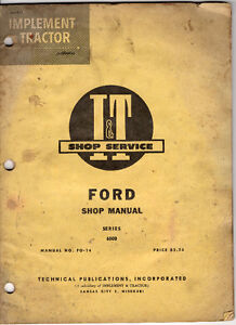 old tractor shop manuals