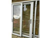 Patio doors and slim window