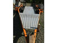 Twin double motorbike trailer or for quad / mower