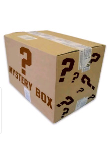 Mystery box filled with sports Memorabilia