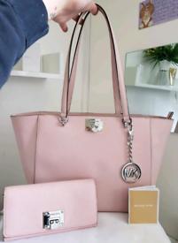 (Jo's post) Michael Kors baby pink TINA TOTE BAG & FREE PURSE
