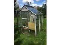 Glass and Metal Greenhouse 6ft X 4ft