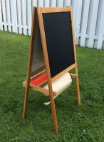 Wood Easel Blackboard/Whiteboard / Chevalet tableau noir/blanc