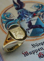 Lost Insignia Ring with Family Crest / Perdu Insignia Bague