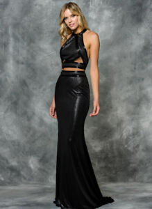 COLOURS CHARCOAL TWO PIECE PROM DRESS size 6