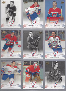 Cartes hockey 2008-09 UD Montreal Canadiens Complete Base Set
