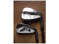 Ping i25/S55 combo irons, right handed, stiff blue dot.