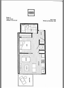 Jr 1Bed/ 1BA - Station Square1: 2 Yrs old apartment in Metrotown