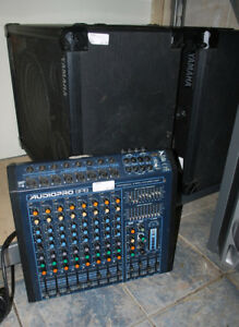 Yorkville Sound Audiopro Micromix SP8 8 Channel Mixer w/Speakers