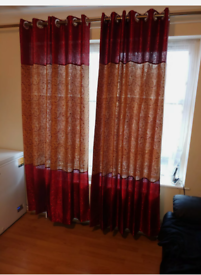 3 pair of curtains