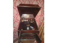 Gramophone. Vintage. Antique.