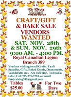 Royal Canadian Legion Br. 389 Fall and Winter Craft Sale