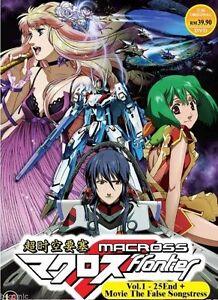 DVD Macross Frontier Vol. 1 - 25  + Movie The False Songstress English Subtitle