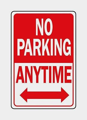 Hy-ko English No Parking Anytime Sign Parking Lot Business Aluminum 12x18 Hw-1