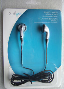 Omniteck Stereo Earbud Headphones (New)
