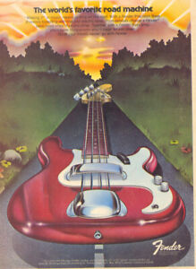 FENDER CARTOON GUITAR POSTERS COLLECTION