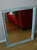 Miroir 23 x 29 Turquoise Egg and Dart Shabby Chic Mirror
