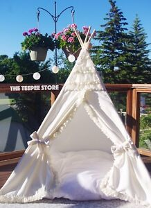 Teepee tipi princess wigwam ivory. Tender stylish. Decor Downtown-West End Greater Vancouver Area image 2