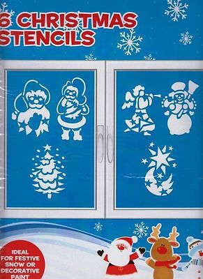Pack of 6 Christmas Stencils - For Christmas Window Decorations (PM208) - Halloween Stencils For Windows
