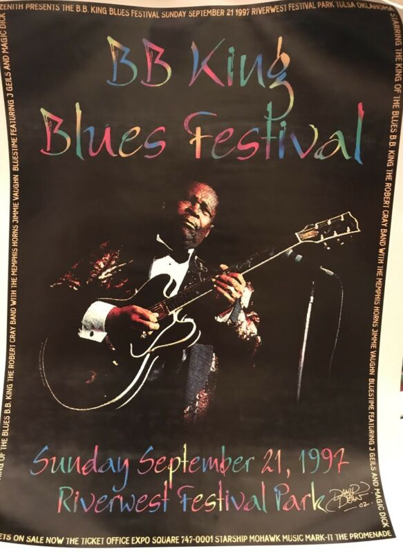 B. B. BB KING Blues Festival & CRAY 1997 Original SIGNED Poster Print AUTOGRAPH