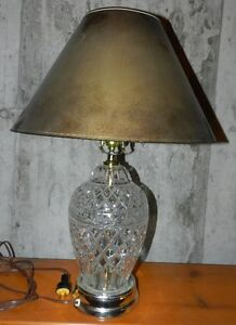 Lovely crystal glass style table lamp