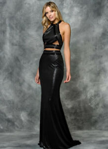 CHARCOAL TWO PIECE PROM DRESS SIZE 6