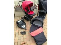 Oyster travel system including isofix base