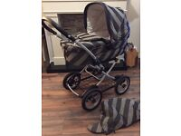 Mama's and Papa's Primo Vaggio IP 3 in 1 combination - Pram, pushchair, buggy, car seat, car cot