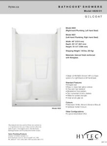 Hytec 36x48 one pice shower