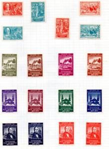 Série de 32 timbres publiés par la Société Saint-Jean-Baptiste