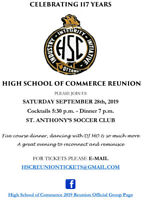 High School of Commerce Reunion - Contact us for tickets