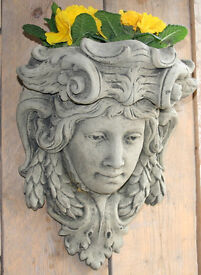 Stone Wall Planter in Reconstituted Limestone - Roman Face