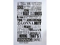 Rocky Balboa Mural Inspirational Quote Wall Sticker Bedroom Home Vinyl Decal