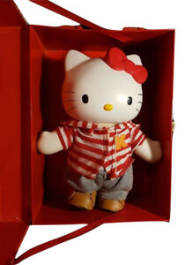 "11"" Hello Kitty Doll Vintage Vinyl Dress Up Figure With Box"
