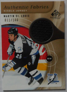 Martin St-Louis , 2005-06 , SP Game Used, Authentic Fabrics Gold Gatineau Ottawa / Gatineau Area image 1