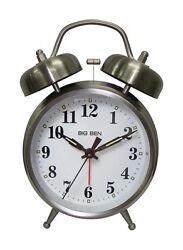 Westclox Big Ben Twin  4 in. L Silver  Analog  Alarm Clock  Batteries Required