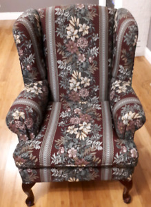 2 wingback accent chairs