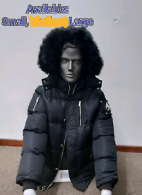 Moose Knuckle Winter Coat in Black - Small/Large Left