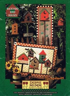 Debbie Mumm Backyard Bird Houses Quilt Applique Pieced Pattern