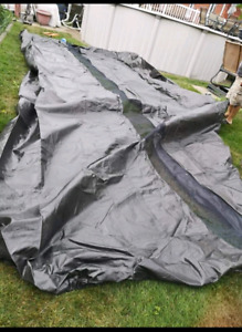 Couvre piscine OVALE / Pool cover